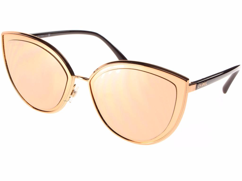5cd99c666b Lunette de soleil CHANEL Modèle CH4222 Couleur C117 Rose Gold Verres 4Z  Grey Mirror Yellow Gold 18K