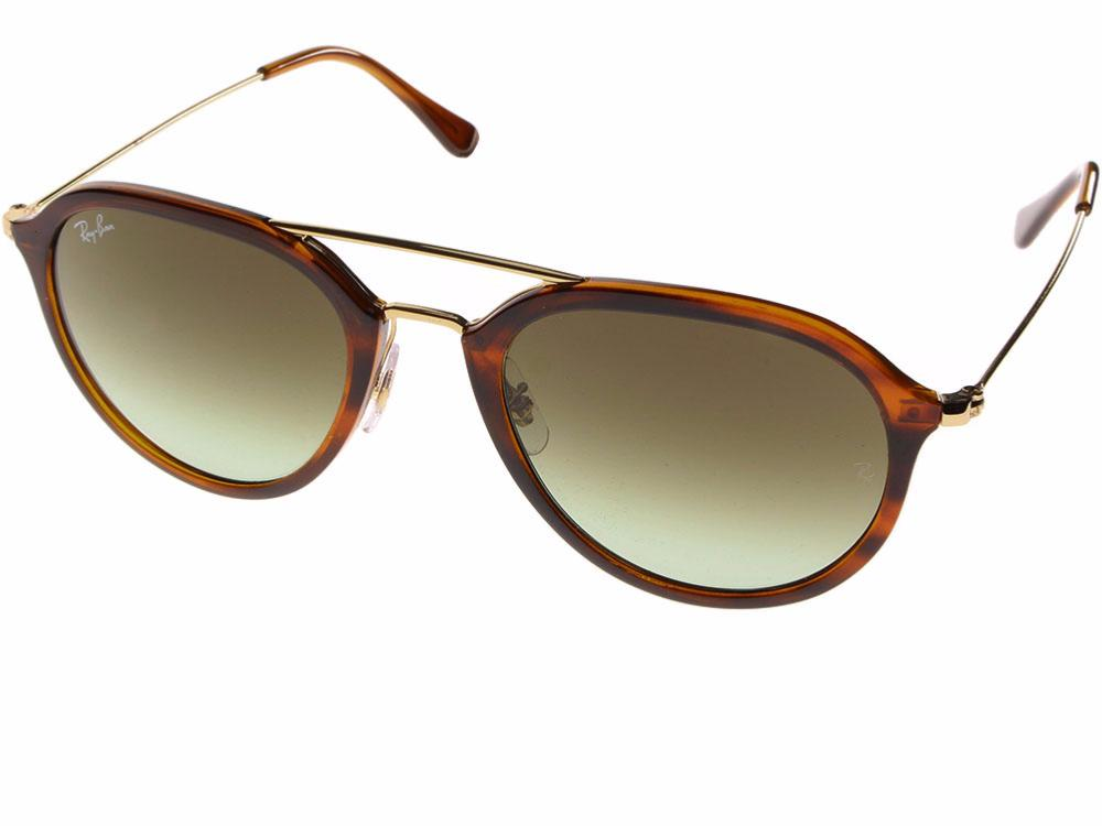 361dd9d348c3 Lunette de soleil RAY-BAN Modèle RB4253 Couleur 820 Striped Havana Verres A6  Green Gradient Brown